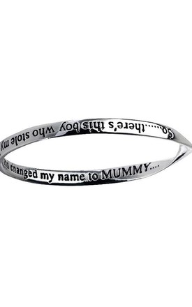 A boy who stole my heart Affirmation Bangle by Nautical and Nice Ltd