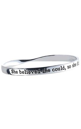 She Believed She Could, So She Did Affirmation Bangle by Nautical and Nice Ltd