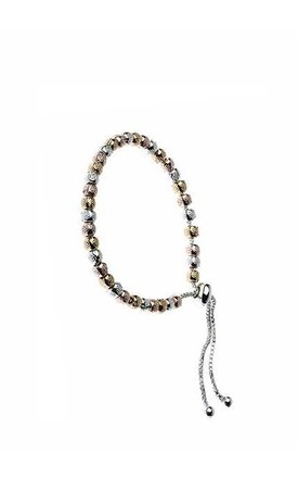 Mixed metal bead bracelet by Nautical and Nice Ltd