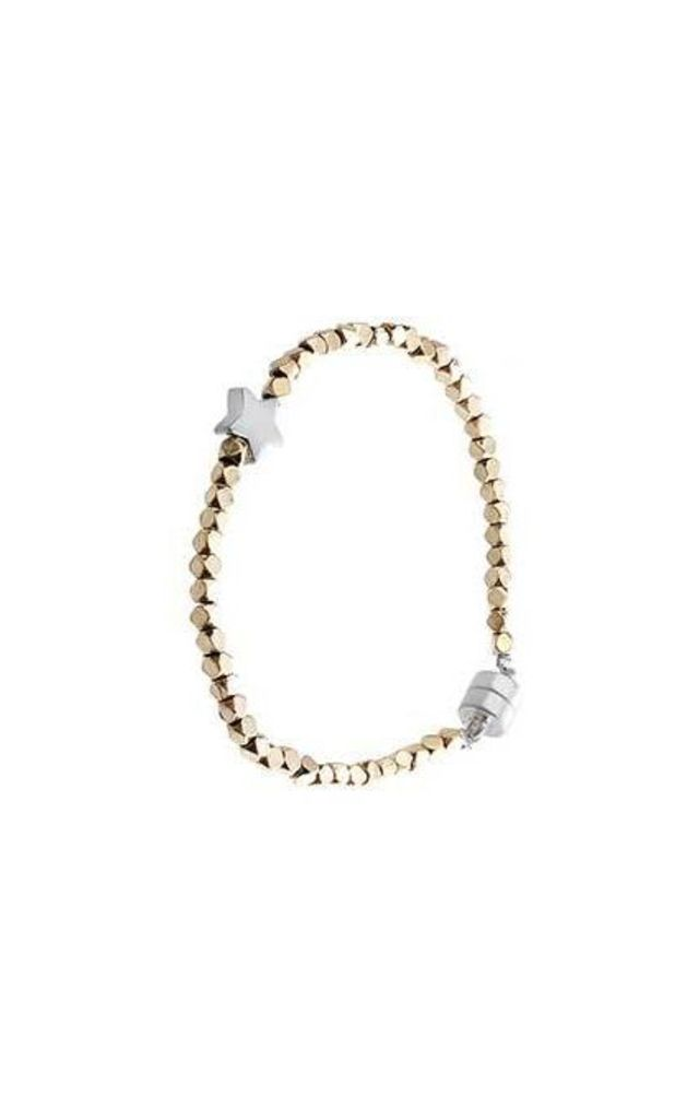 Silver star and gold bead bracelet by Nautical and Nice Ltd