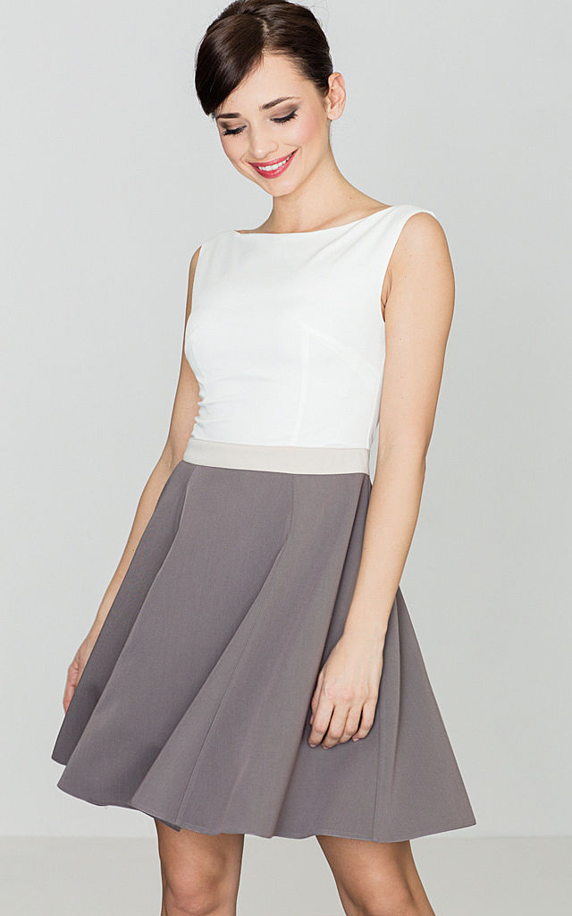 Mini two-tone skater Dress by LENITIF