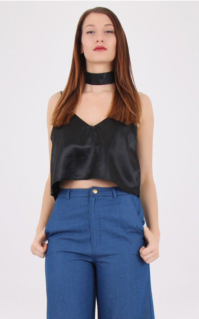 Detachable Choker Neck Top Black by MISSTRUTH