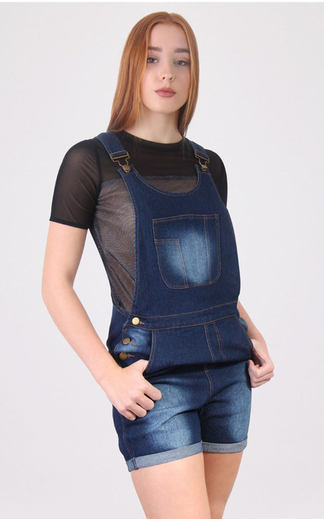 Denim Front Pocket Dungaree by MISSTRUTH