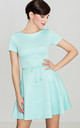 Short Sleeve Mini Skater Dress in Mint by LENITIF