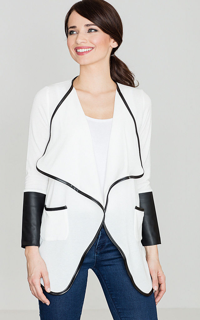 Light Jacket With Leather Inserts by LENITIF
