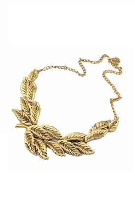 Gold Leaf Bohemian Necklace by Ruby Rocks Accessories