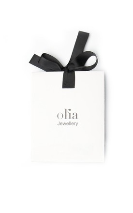 Olia Jewellery Marcia Horn Bracelet In Color Silver by Olia Jewellery
