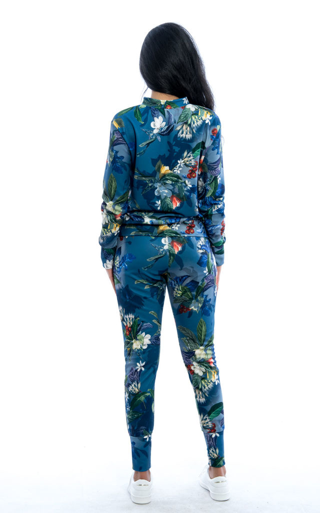 Tropical Print Co-Ord Set - Navy by Npire London