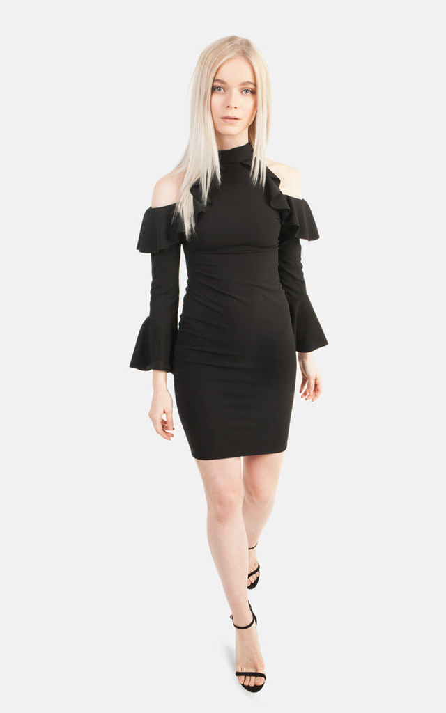 Bell Sleeve Frill Dress by Moth Clothing