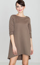 Mocca 3/4 Sleeve Quilted Dress by LENITIF