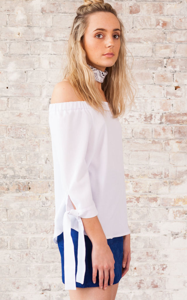 Cold Shoulder Top with Ties by We Run This