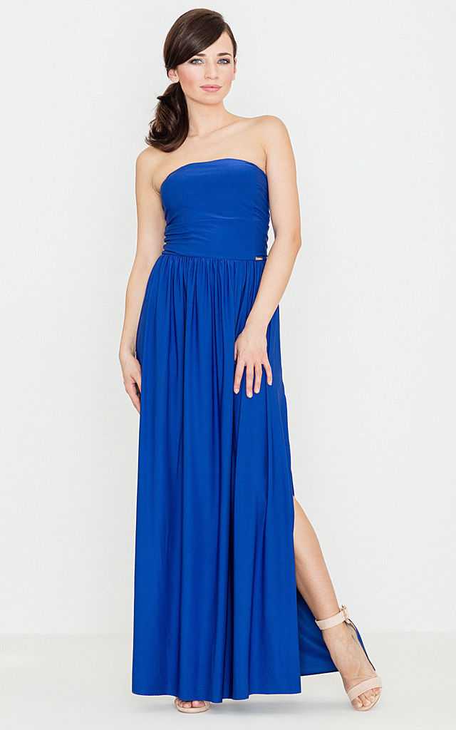 Blue Maxi Dress by LENITIF