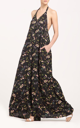 Wide leg halterneck jumpsuit in floral by Paisie