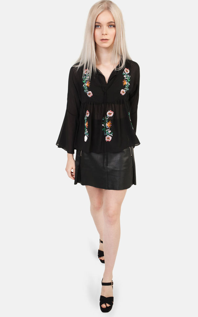 Embroidered Gypsy Top by Moth Clothing