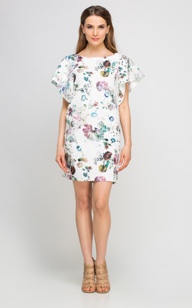 Floral Shift Dress with Cap Sleeve by Lanti