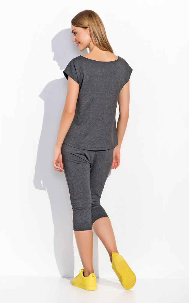 Dark Grey Classic Plain Ladies T-shirt by Makadamia