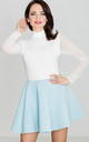Flared Mini Skirt in Light Blue by LENITIF
