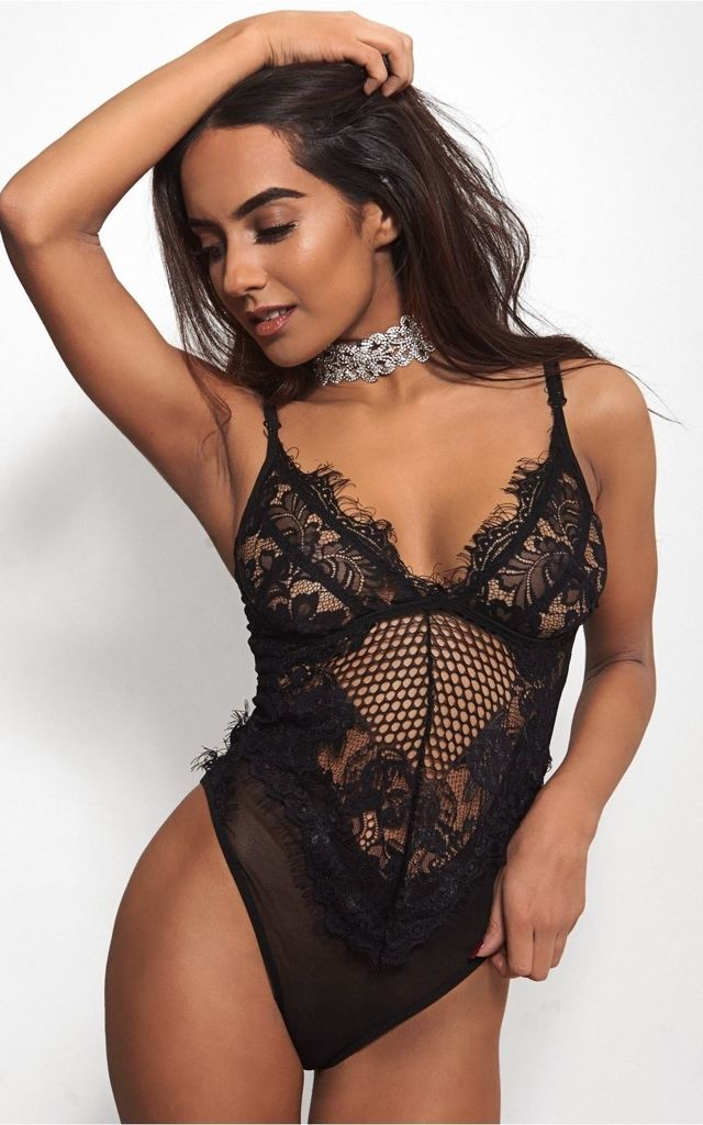 Black Lace Bodysuit by The Fashion Bible