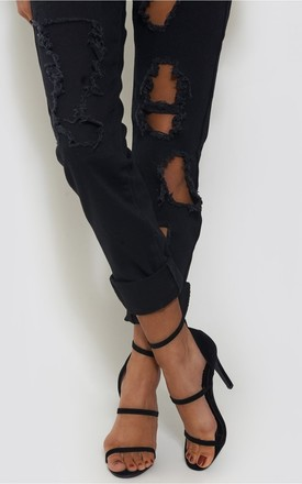 Black Suede Strappy Heels by The Fashion Bible