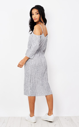 Cold Shoulder Tie Waist Midi Dress Silkfred