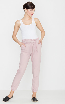 Pink Belted Trousers by LENITIF