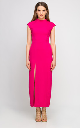 Maxi dress with side split, fuchsia by Lanti