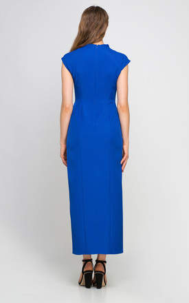 MAXI DRESS INDIGO with side split by Lanti