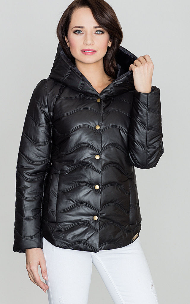 Black Puffa Jacket by LENITIF