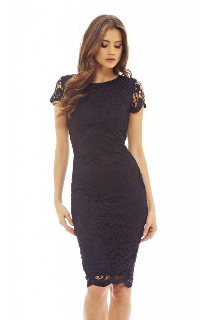 Crochet Lace Midi Dress Silkfred