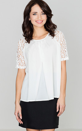 Short Sleeves top in white by LENITIF