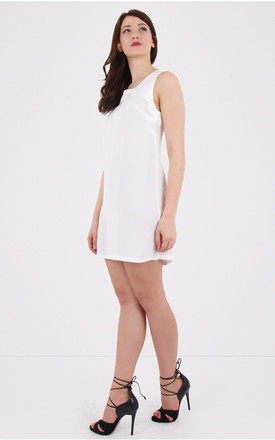 Thandie Dress With Lace Up Back in White by MISSTRUTH