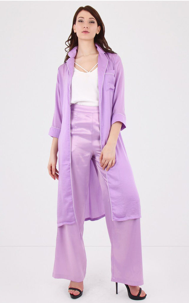 Lilac Loose Trench Coat by MISSTRUTH