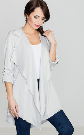 Light Grey Loose Cape by LENITIF