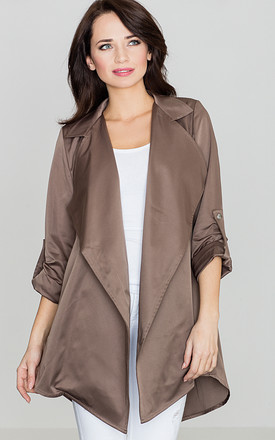 Brown Loose Cape by LENITIF
