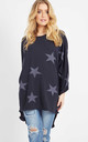 Nancie – Navy Oversize Star Top by Blue Vanilla