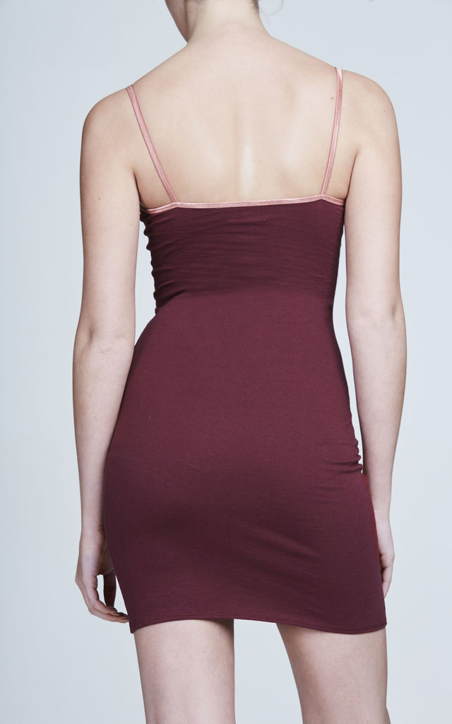 Burgandy mix dress by MS CAMPBELL