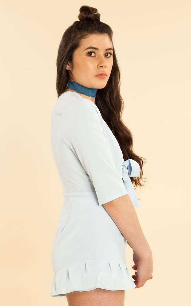 Blue Ruffle Playsuit by We Run This