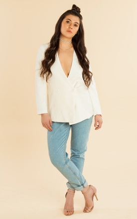 White Oversized Blazer by We Run This