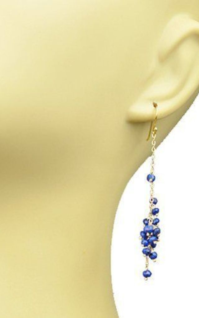 Lapis Lazuli Cluster Vermeil Earrings by Gena Myint