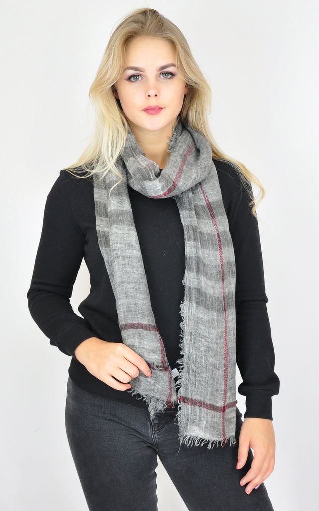 Woven scarf in grey by GOLDKID LONDON