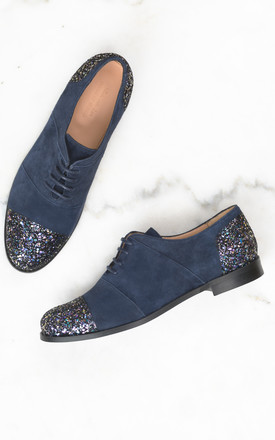 Blue Brogues with Glitter details by House of Spring