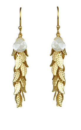 Silverite Leaf Cluster Vermeil Earrings by Gena Myint