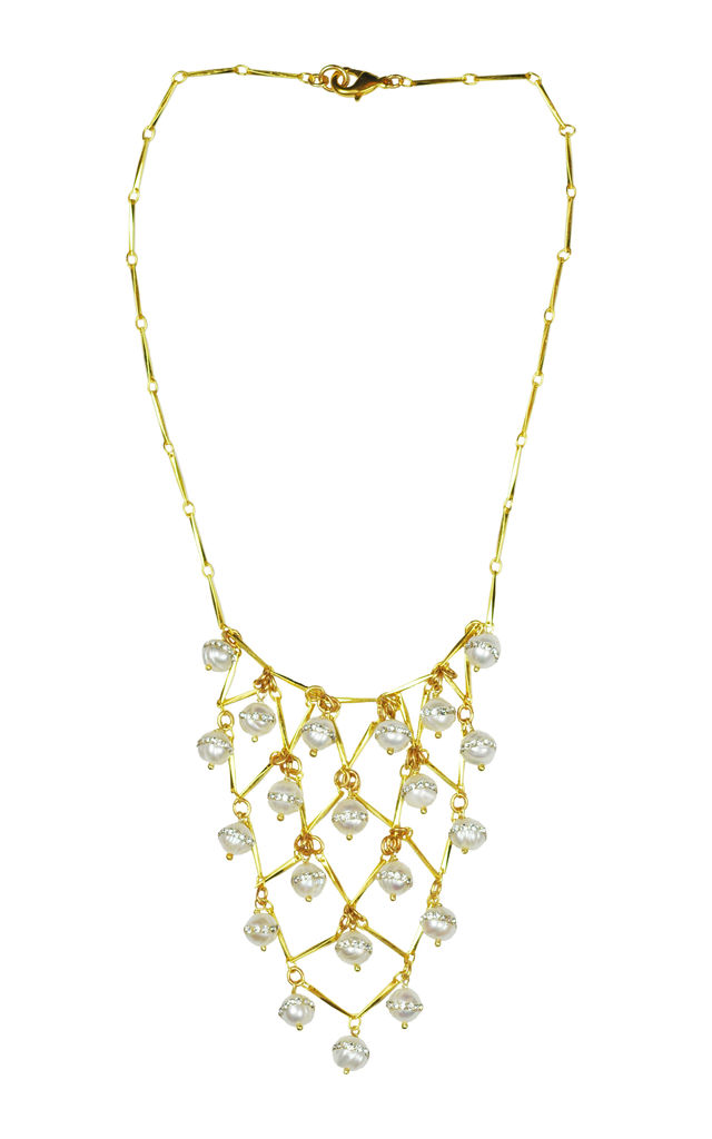 Statement Pearl Necklace by Gena Myint