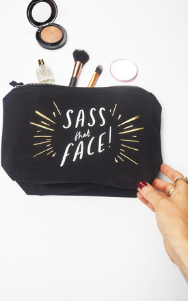Sass That Face Make Up Bag - Black by Rock On Ruby