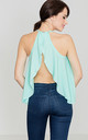 Mint Frill Open Back Top by LENITIF
