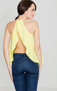 Lime Frill Open Back Top by LENITIF