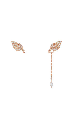 Asymmetric Leaf Two Way Earrings Rose Gold by DOSE of ROSE