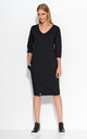 Black Casual Dress with Pockets by Makadamia
