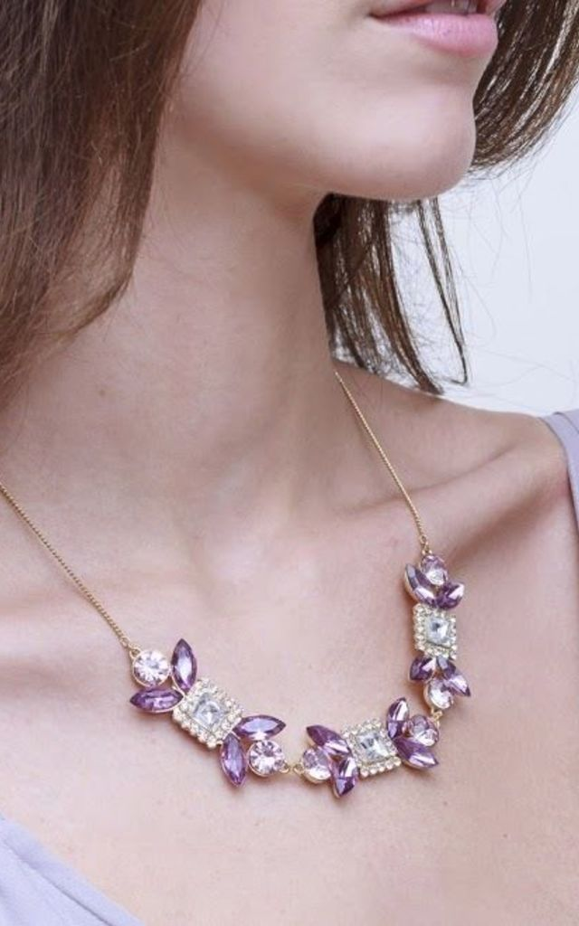 Patricia Purple Statement Necklace by Johnny Loves Rosie
