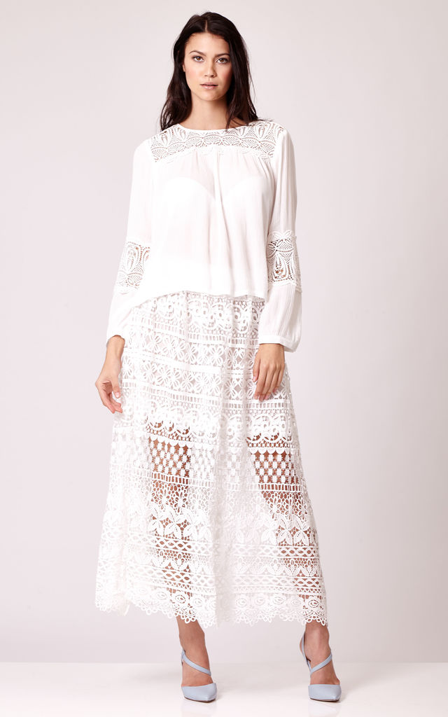 Maxi Lace Skirt by Cutie London